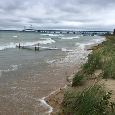 Lake Michigan Shoreline Looking East